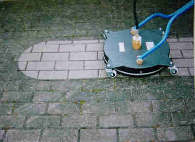 Why your home needs a power wash before and after pics for Driveway pressure washer